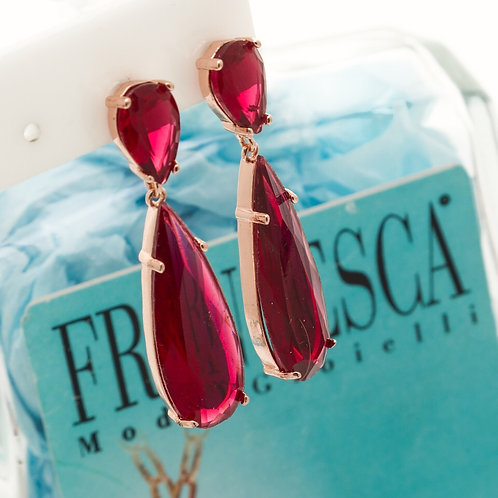 Fe7662 Κρεμαστά σκουλαρίκια σε υπέροχο ζωηρό χρώμα!