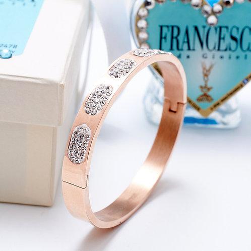 Fb7400 Exclusive bracelet!! Εντυπωσιακή χειροπέδα, με λεπτά κρυσταλλάκια!!