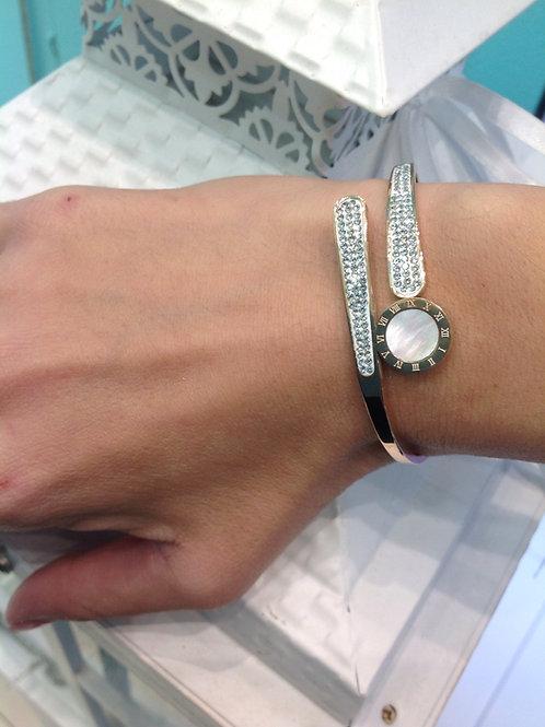 Fb7776 Exclusive bracelet! Εντυπωσιακή χειροπέδα,με λεπτά κρυσταλλάκια!