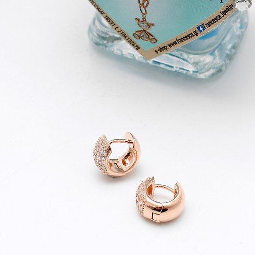 Fe7210 Λεπτά σκουλαρίκια κρίκοι με strass