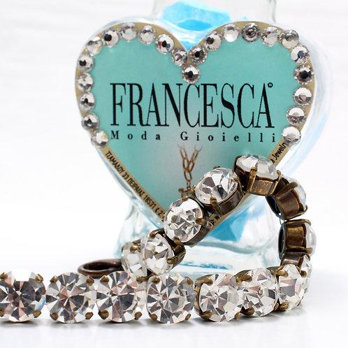 Fn7395 Charms beauty κρυστάλλινο κολιέ σε μπρονζέ απόχρωση!αγκαλιάζει το λαιμό!!