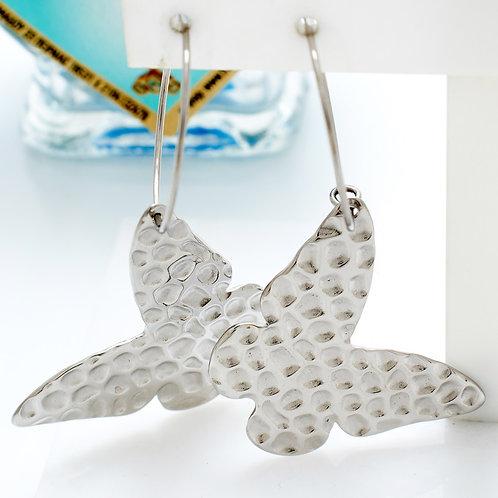 Fe7552 Εντυπωσιακές επάργυρες πεταλούδες