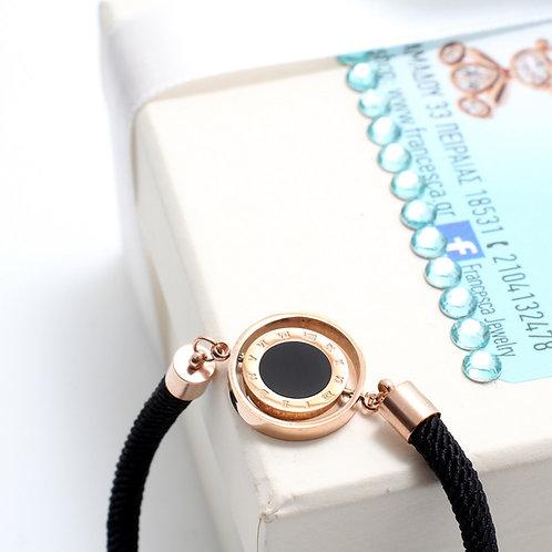 Fb7206 Class bracelet!! Μοδάτο βραχιόλι σε επάργυρο και επίχρυσο