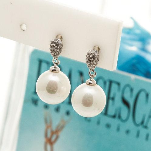 Fe8402 Αριστοκρατικά και διακριτικά σκουλαρίκια με πέρλα.
