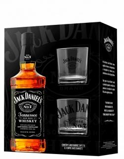 Kit wiskey Jack Daniels 1 litro com 2 copos