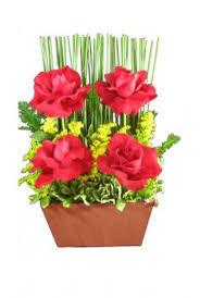 Cachepo de Rosas Vermelhas