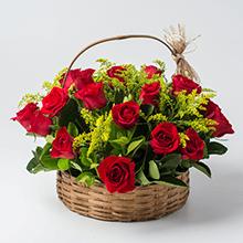 Cesta class 28 rosas vermelhas