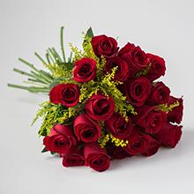 Buque de 20 rosas vermelhas top