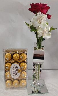 Solitário Sucesso com rosa colombiana e chocolate