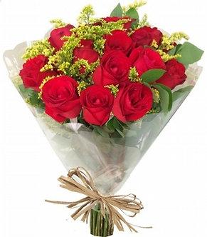 Buque 12 rosas vermelhas