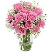 ARRANJO COM 12 ROSAS PINK
