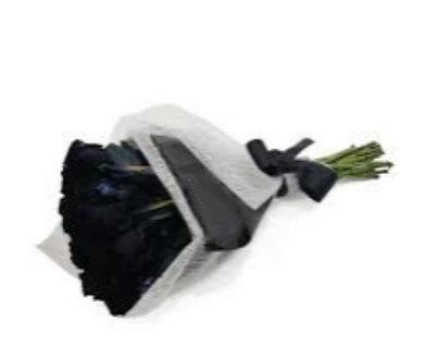 buque 12 rosas negras