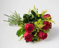 Ramalhete de 6 Rosas Vermelhas