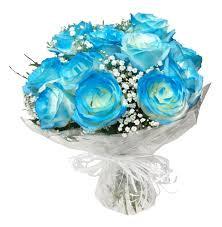 LINDO BUQUÊ DE 12 ROSAS BLUE