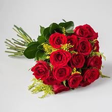 Buque de 19 rosas vermelhas e tango