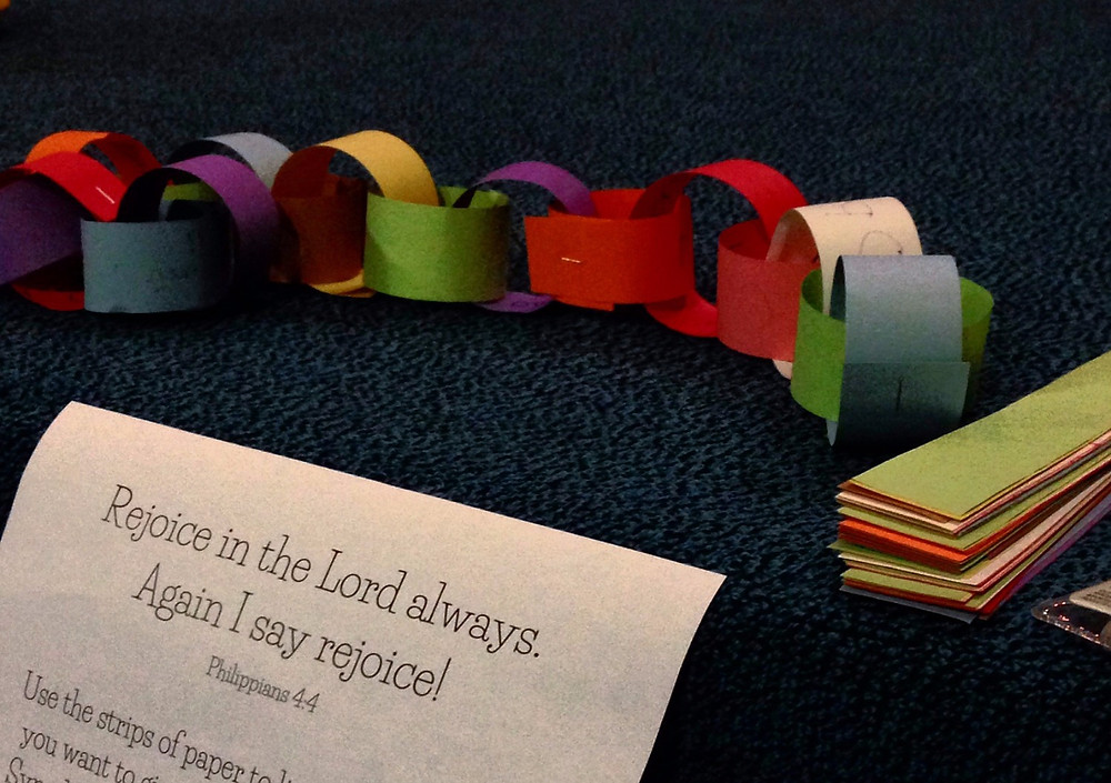 One way to engage in Lent may be to try new styles of prayer, like a paper chain prayer where you add a new link with something you are giving thanks for that day.