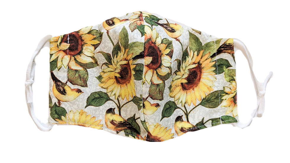 Sunflower Petite Adult/Teen Fitted Face Mask