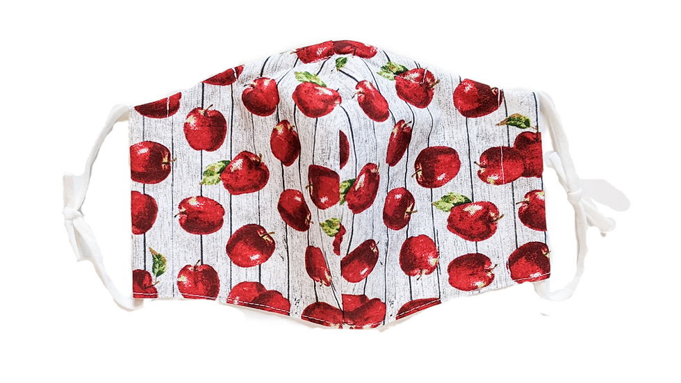Apples Adult Medium Fitted Face Mask with Loop