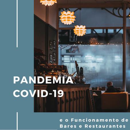 COVID-19 E O FUNCIONAMENTO DE BARES E RESTAURANTES