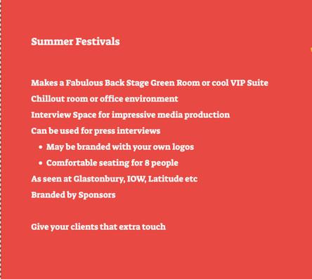 Suitable for Festivals