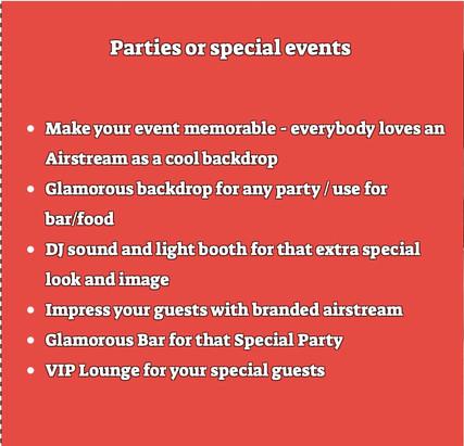 Airstream Parties