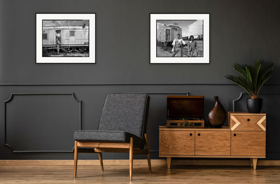 Prints (from left to right): Carriage and Traintracks