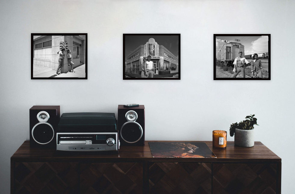 Prints (from left to right): Barbershop, Tool Co., Trantracks