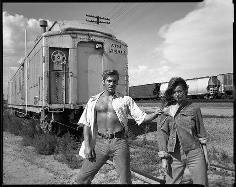 Corinne Day Train Tracks