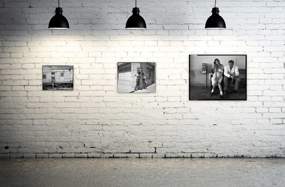 Prints (from left to right): Traintracks, Barbershop, Pool Hall