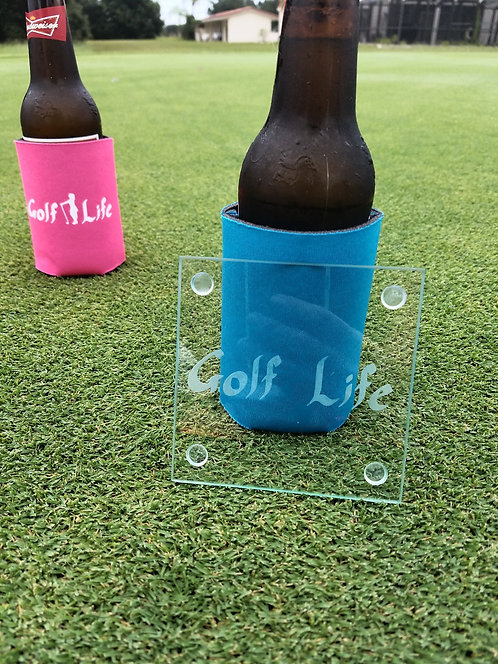 Golf Life Signature Logo - Coasters Set of 4