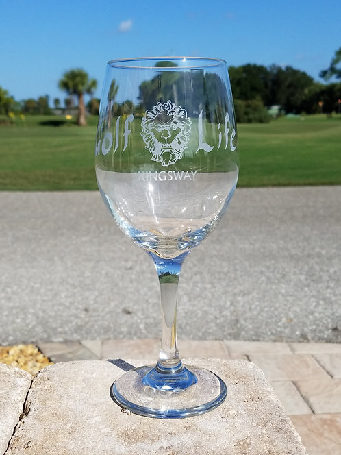 Golf Life Kingsway Country Club - Wine Glass