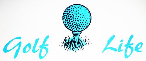 Golf Life Tee Decal - Small