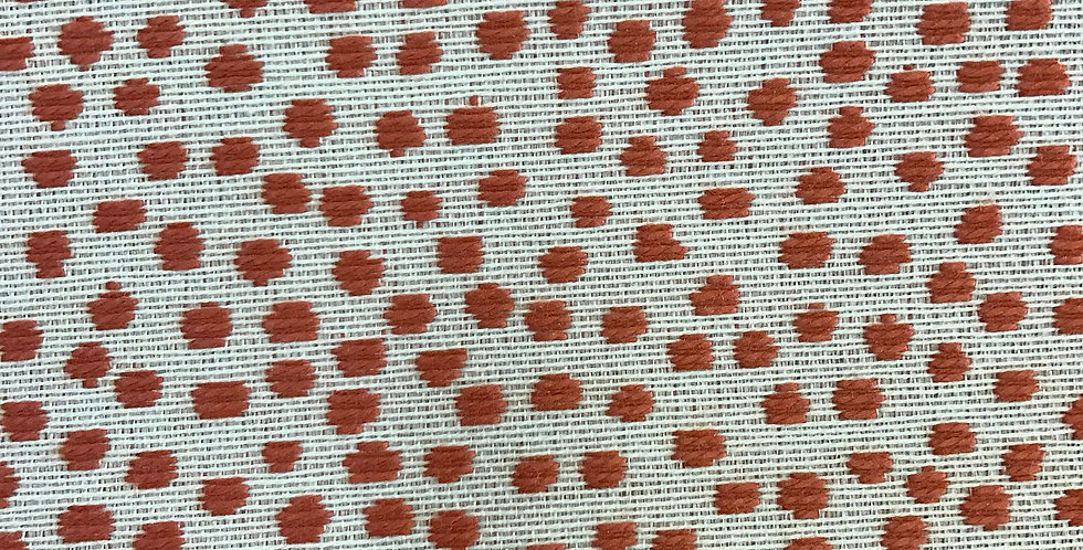 Coral Dots on White Background