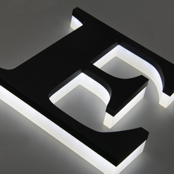 Aviso Corporeo con iluminación LED