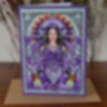 Lady of Avalon Art Card by Esther Remmington. Moondragon Cards Shop