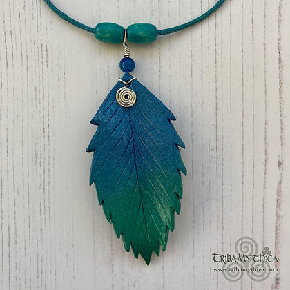 Enchanted Turquoise Leaf Necklace