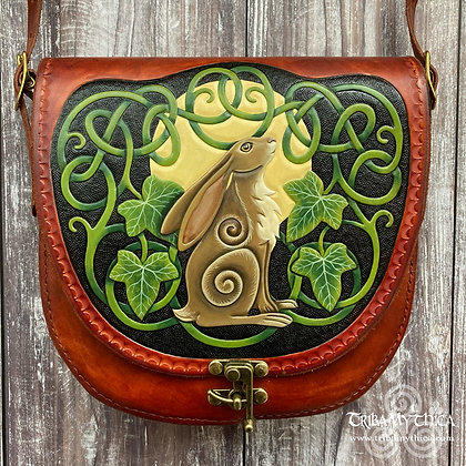 Moon Gazing Hare Leather Bag