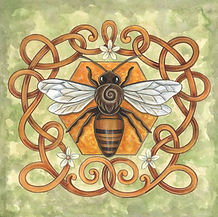 Honey Bee Celtic Art