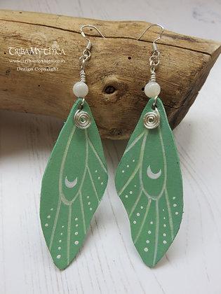 Fantasy Moon Moth Wing Earrings