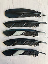 Luxury Leather Bookmark Feathers