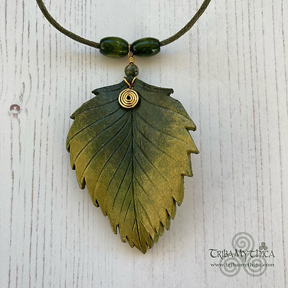Enchanted Green Leaf Necklace