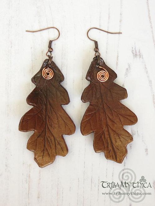 Autumn Oak Leaf Earrings