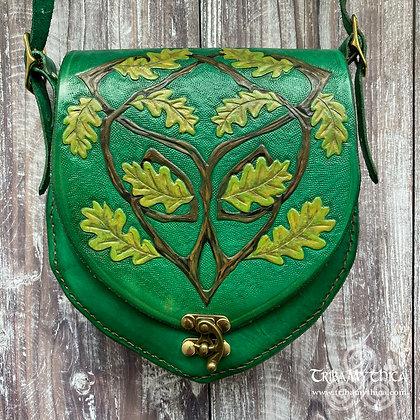 Small Green Oak Leather Bag