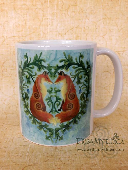 Valentines Foxes - Art Mug