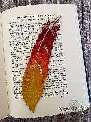 Phoenix Feather Luxury Leather Bookmark