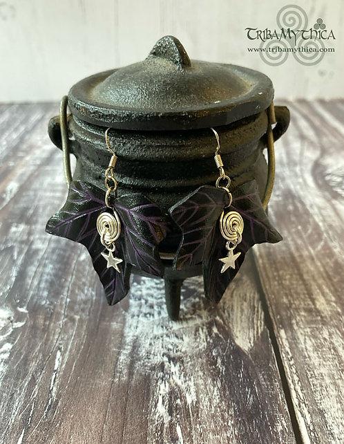 FAYE - Black and Purple Ivy Earrings