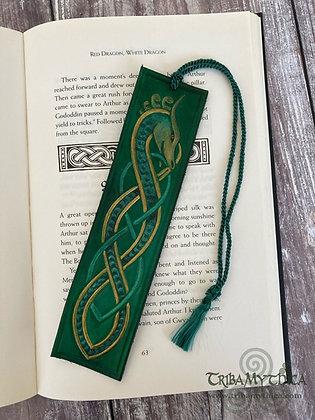 Green Dragon Luxury Leather Bookmark