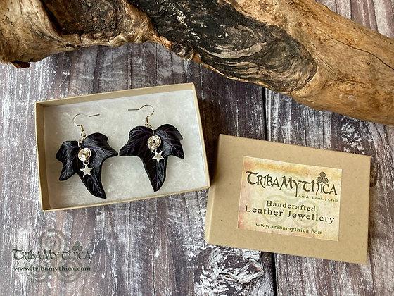 Black and Purple Ivy Star Earrings