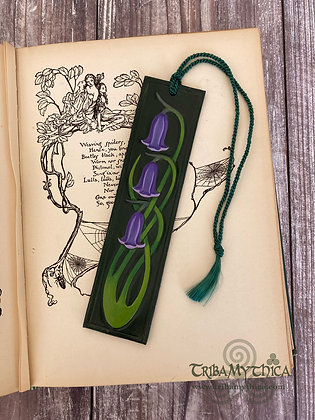 Bluebells Luxury Leather Bookmark