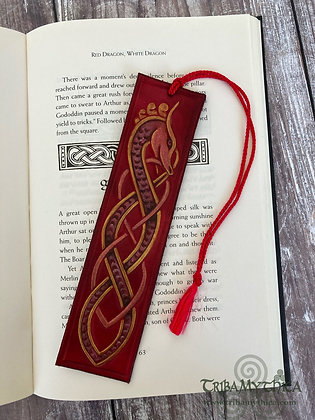 Red Dragon Luxury Leather Bookmark